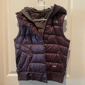 The North Face Purple Puffer Vest- Size M